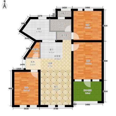 东市尚品3室0厅1卫1厨122.00㎡户型图
