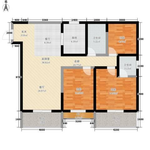 达成馨苑3室0厅2卫1厨131.00㎡户型图