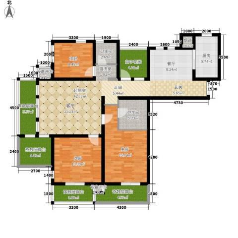 东市尚品3室0厅2卫1厨175.00㎡户型图
