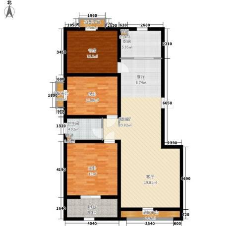 上东城3室1厅1卫1厨144.00㎡户型图