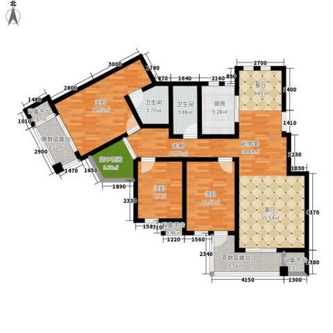 东市尚品3室0厅2卫1厨150.00㎡户型图