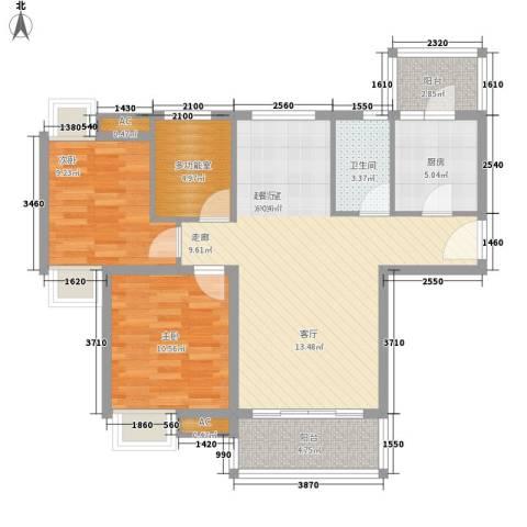 合生君景湾2室0厅1卫1厨91.00㎡户型图