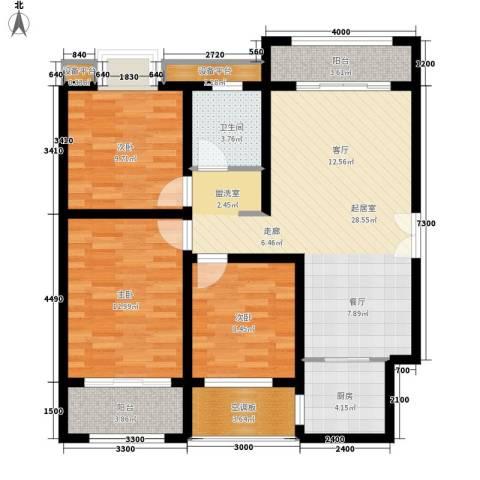 汉城壹号3室0厅1卫1厨111.00㎡户型图