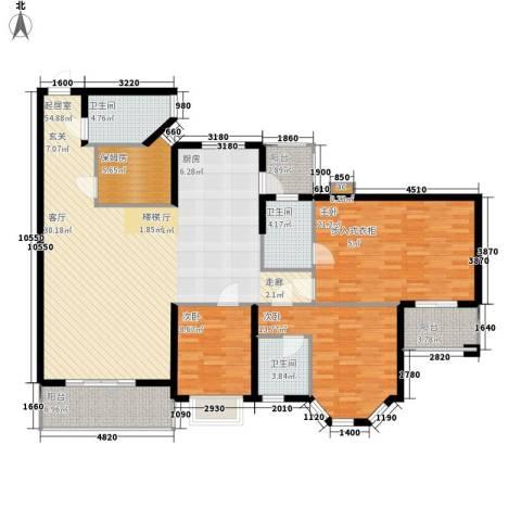 海伦堡御院3室0厅3卫0厨147.00㎡户型图