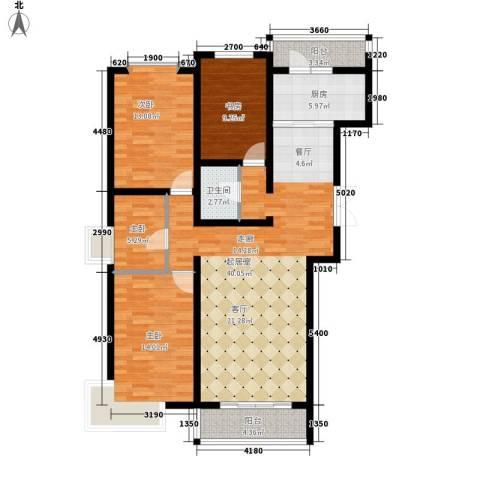 长乐湾4室0厅1卫1厨141.00㎡户型图