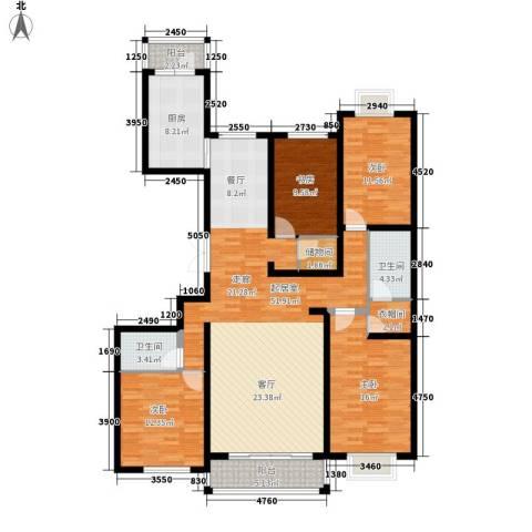 长乐湾4室0厅2卫1厨185.00㎡户型图