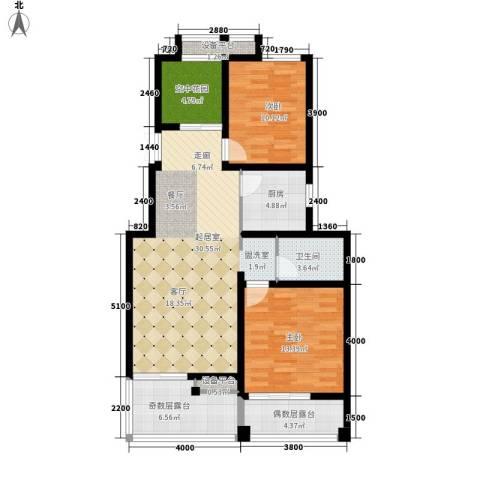 东市尚品2室0厅1卫1厨117.00㎡户型图