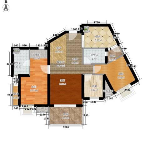 滨江水恋3室1厅2卫1厨112.00㎡户型图