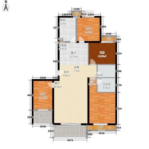 东方星家园4室0厅2卫1厨167.00㎡户型图