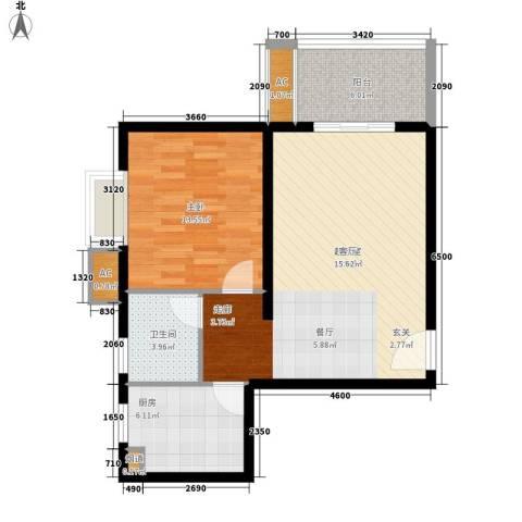 东方星家园1室0厅1卫1厨69.00㎡户型图