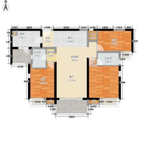 合生君景湾3室0厅2卫1厨138.00㎡户型图