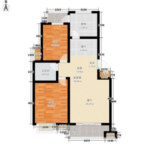 玫瑰园(齐鲁水郡温泉岛三期)2室0厅1卫1厨93.00㎡户型图
