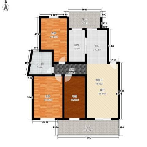阳澄湖滨花园3室1厅1卫1厨225.00㎡户型图