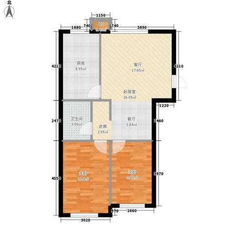 路路通大厦2室0厅1卫1厨85.00㎡户型图