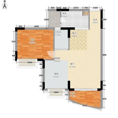 海龙湾1室0厅1卫1厨150.00㎡户型图