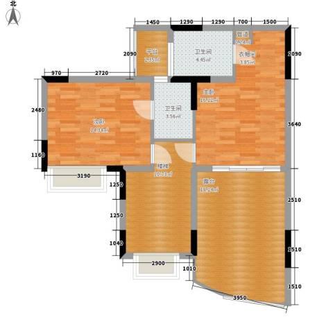 海龙湾2室0厅2卫0厨99.00㎡户型图
