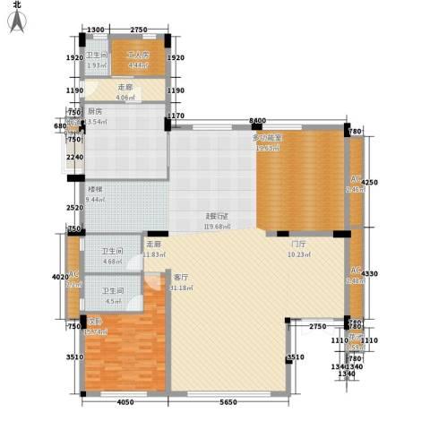 华贵苑1室0厅3卫1厨180.00㎡户型图