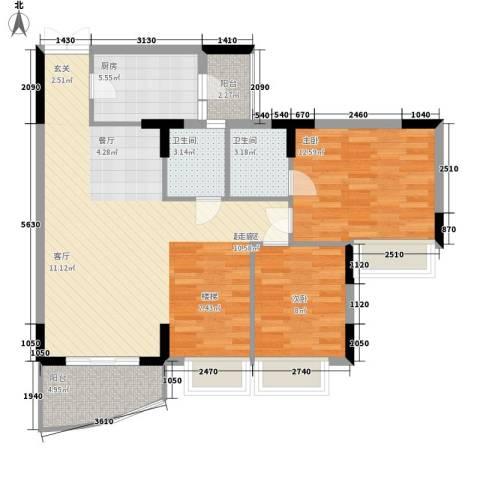 海龙湾2室0厅2卫1厨168.00㎡户型图