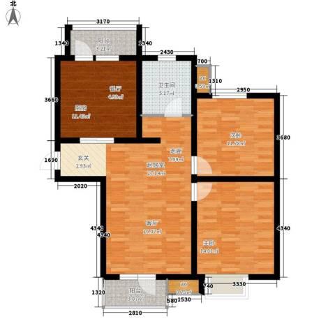 京港国际城2室0厅1卫1厨89.00㎡户型图