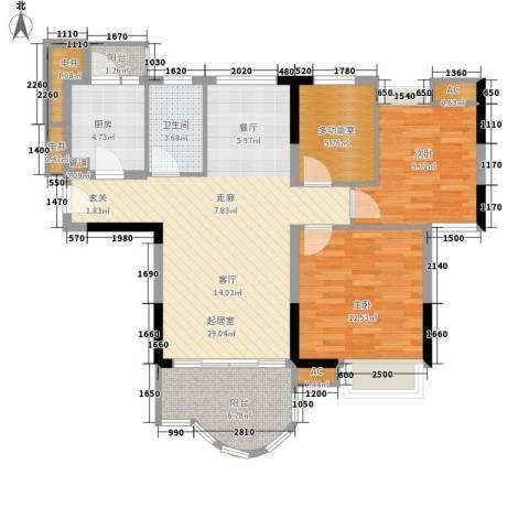 云山熹景2室0厅1卫1厨95.00㎡户型图