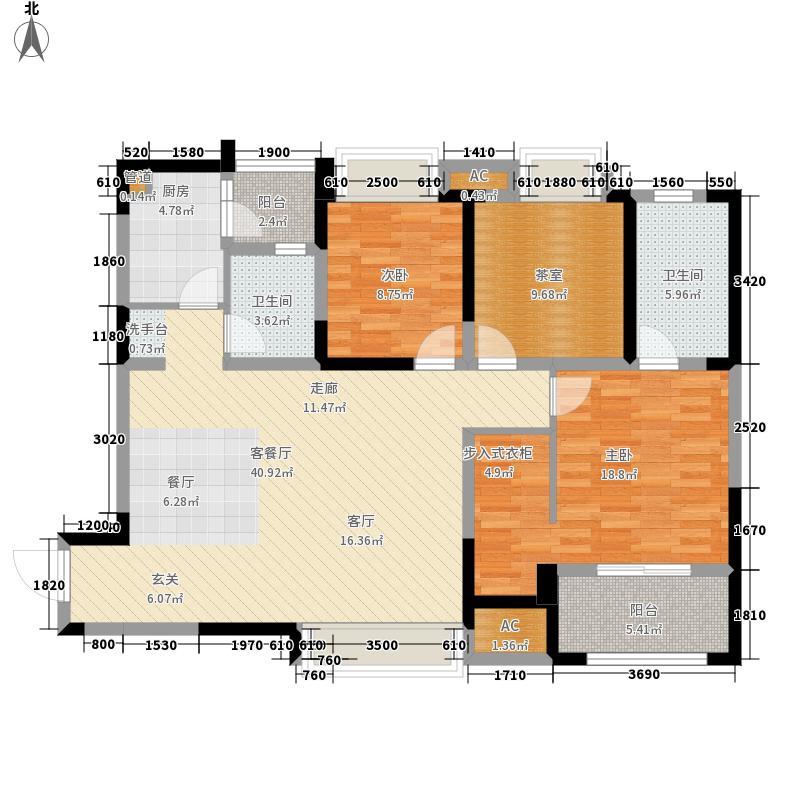 华润凤凰城124.24㎡三期6、7、8号楼E2(售罄)户型