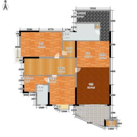 富豪山庄映绿华庭1室0厅3卫0厨205.00㎡户型图