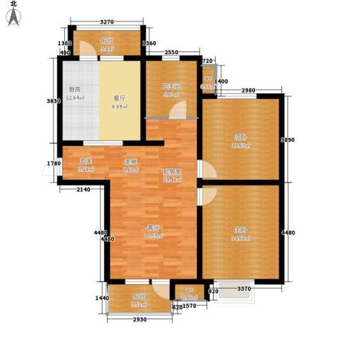 京港国际城2室0厅1卫1厨97.00㎡户型图