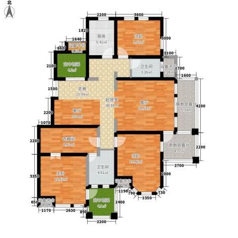 东市尚品3室0厅2卫1厨176.00㎡户型图