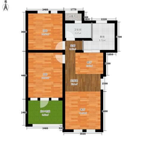 东市尚品2室0厅1卫1厨89.00㎡户型图