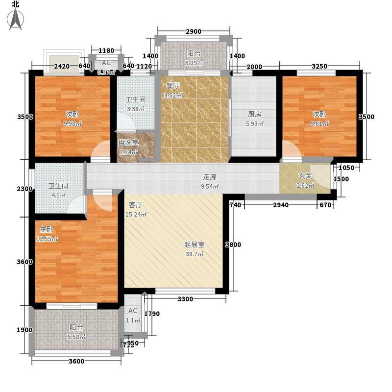中交江锦湾128.92㎡5号楼N户型3室2厅