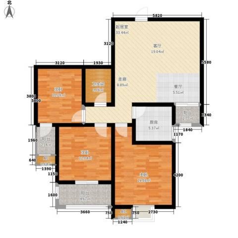 夏日景色3室0厅1卫1厨105.00㎡户型图
