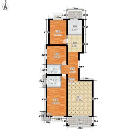 长乐湾3室0厅2卫1厨141.00㎡户型图
