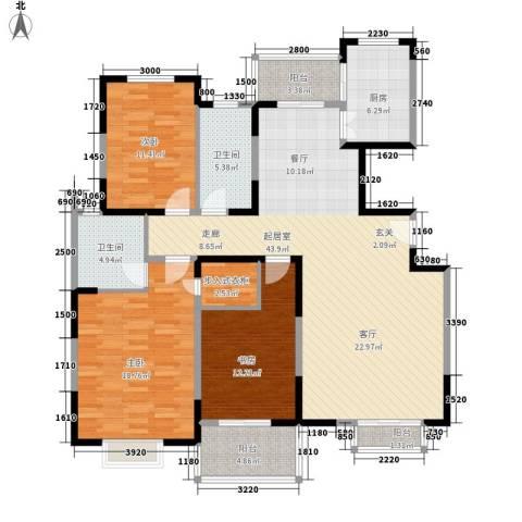 城市风景都市印象3室0厅2卫1厨132.00㎡户型图