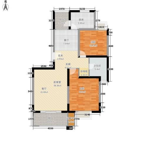 金港河滨华城2室0厅1卫1厨103.00㎡户型图