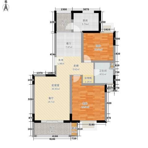 金港河滨华城2室0厅1卫1厨98.00㎡户型图