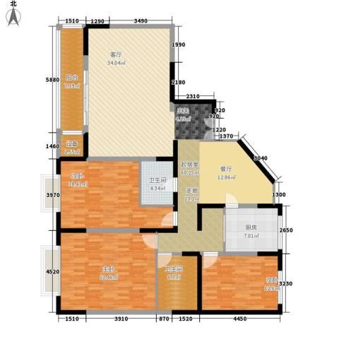 双威温馨花园3室0厅2卫1厨158.00㎡户型图