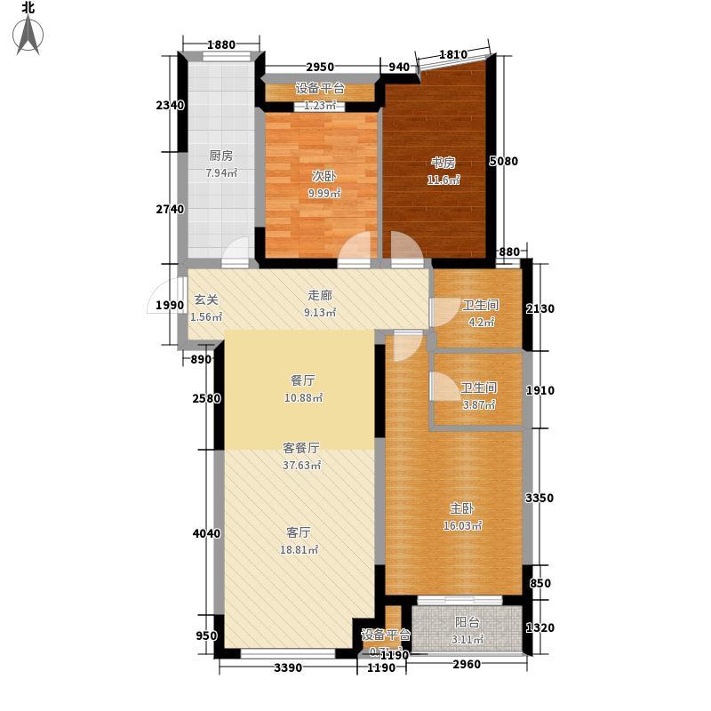 蓝郡名邸135.41㎡M62面积13541m户型