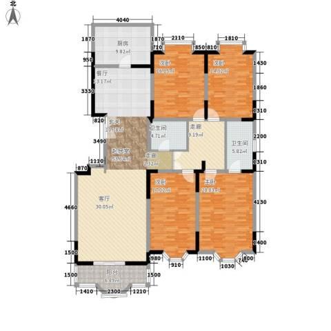 双威温馨花园4室0厅2卫1厨179.00㎡户型图