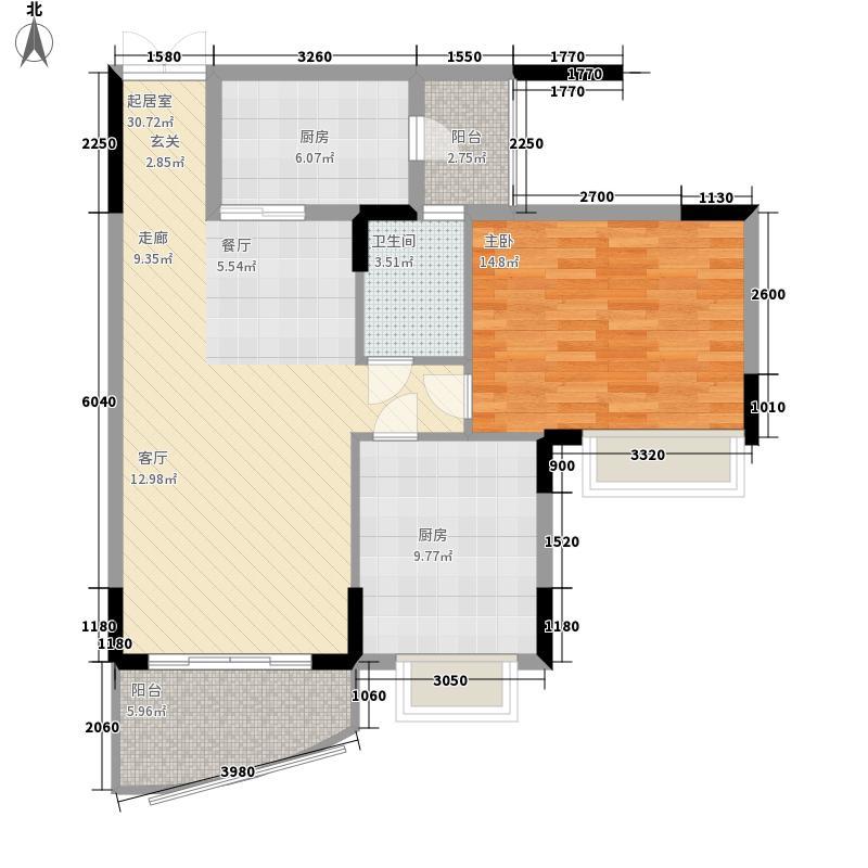 海龙湾83.50㎡水溢轩2梯1-10层面积8350m户型