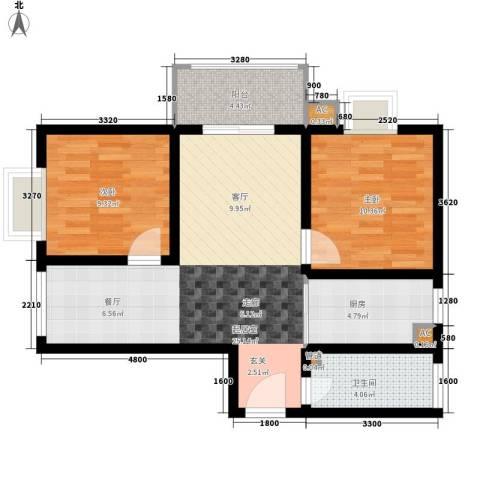 怡兴大厦2室0厅1卫1厨92.00㎡户型图
