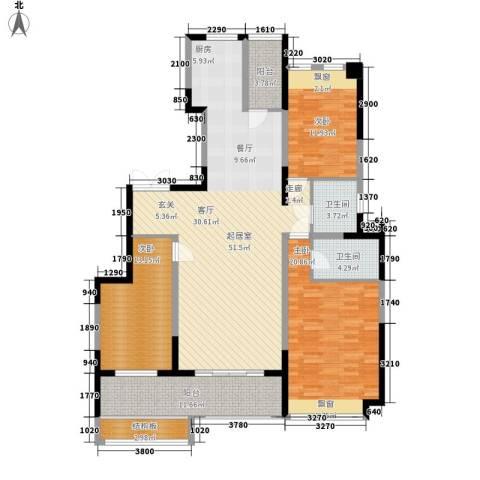 鸿基紫韵3室0厅2卫0厨156.00㎡户型图