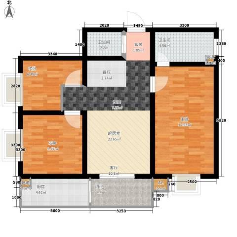 怡兴大厦3室0厅2卫1厨112.00㎡户型图