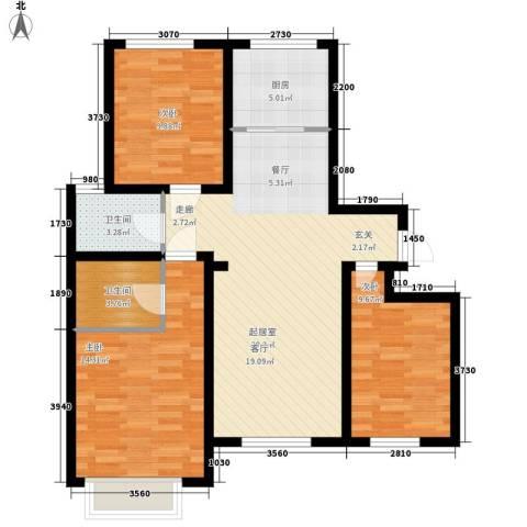华豪丽晶3室0厅2卫1厨120.00㎡户型图