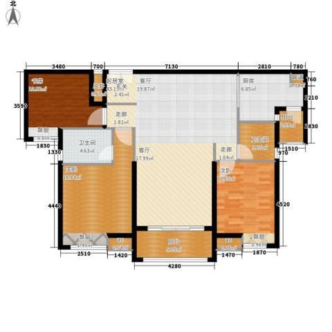 保利国际广场3室0厅2卫1厨124.00㎡户型图