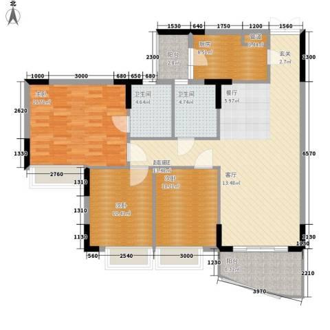 海龙湾3室0厅2卫1厨110.00㎡户型图