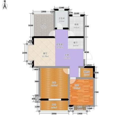 都市怡景2室0厅1卫1厨96.00㎡户型图