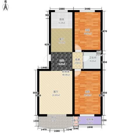 东上华府2室0厅1卫0厨99.00㎡户型图
