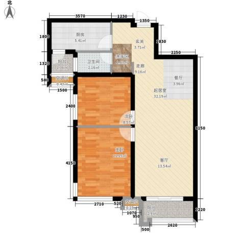 新基商住楼2室0厅1卫1厨92.00㎡户型图
