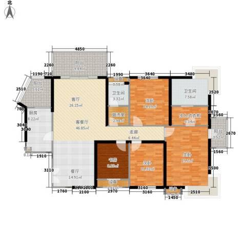 长江之家4室1厅2卫1厨168.00㎡户型图