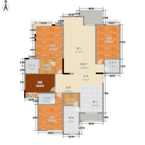 新世纪可居4室1厅3卫1厨330.00㎡户型图